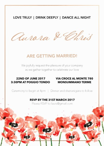 Poppies Wedding Invitations - wedding invitations