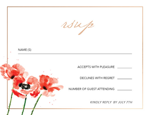 Poppies - RSVP Cards