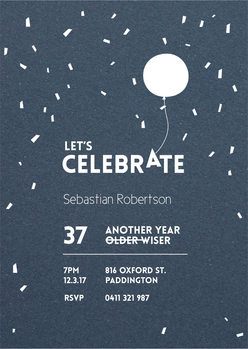 Older and Wiser - Birthday Invitations