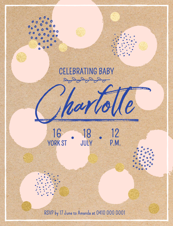 Celebrating Charlotte - Baby Shower Invitations