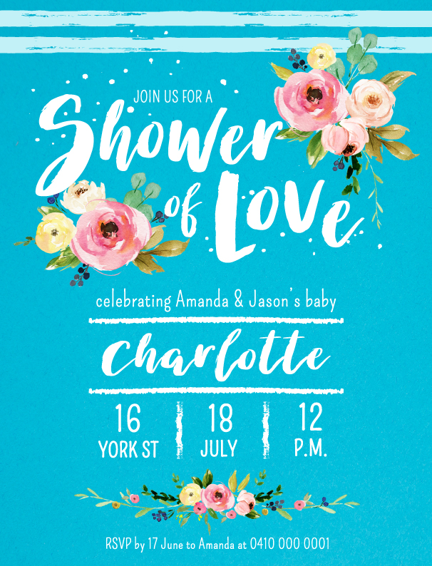 Shower Love - Baby Shower Invitations