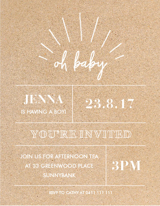Oh Baby - Baby Shower Invitations