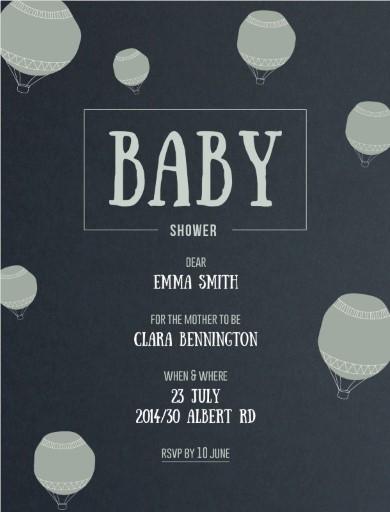 Flying High - baby shower invitations