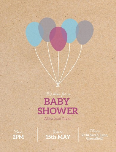 It is Time - baby shower invitations