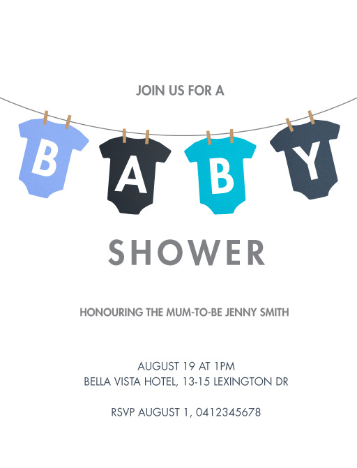 Baby On The Line - baby shower invitations