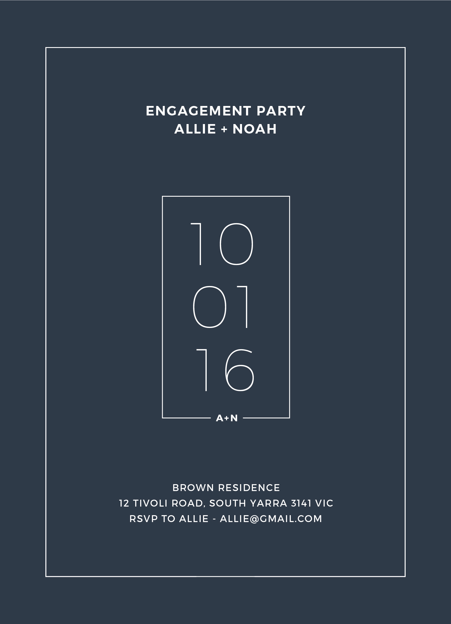 Simplicity - Engagement Invitations