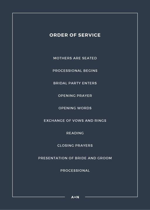 Simplicity - Wedding Programs