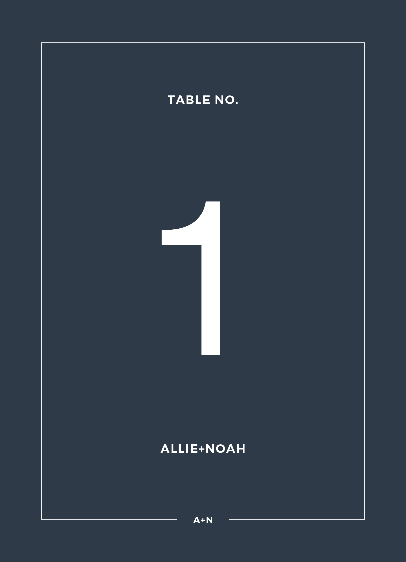 Simplicity - Table Numbers