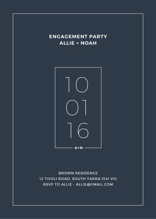 Simplicity - engagement invitations