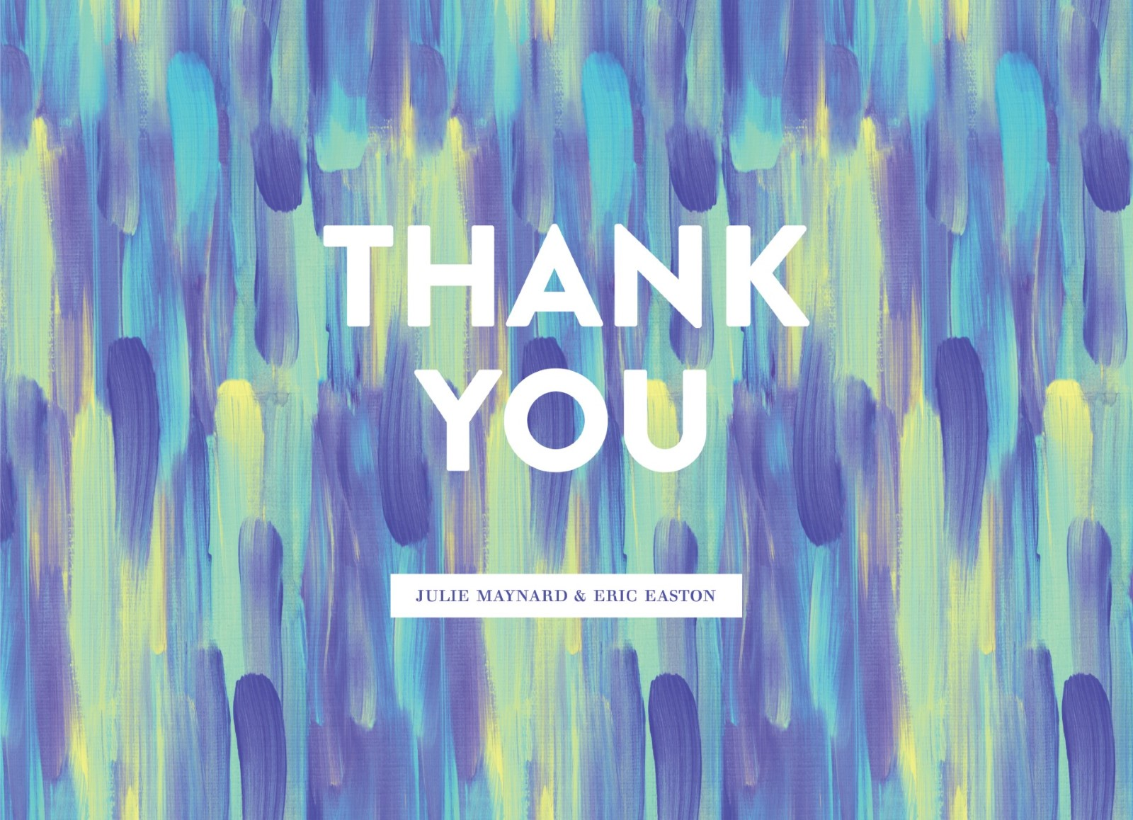 Paint Strokes - Thank You Card
