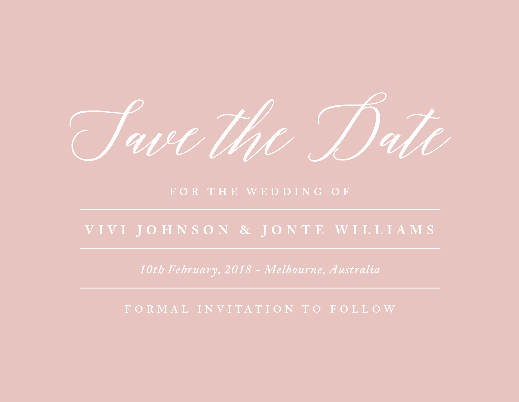 Pastel Script - Save The Date