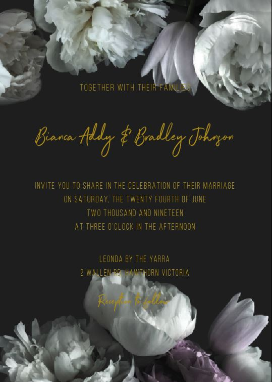 Gardenia - Wedding Invitations