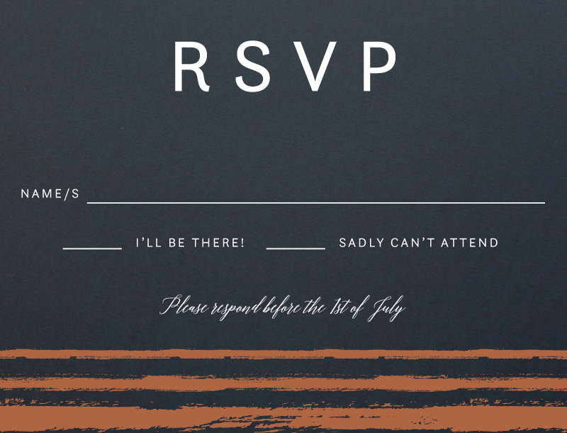 Brush Stroke - RSVP