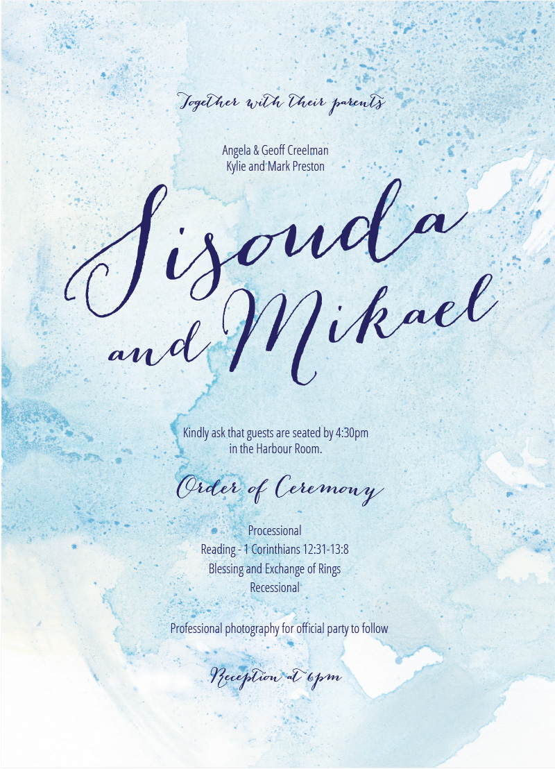 Splash - Wedding Programs