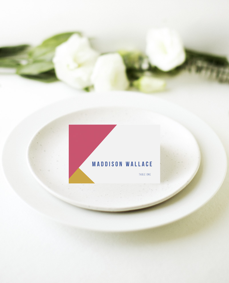 Tesselate - Place Card