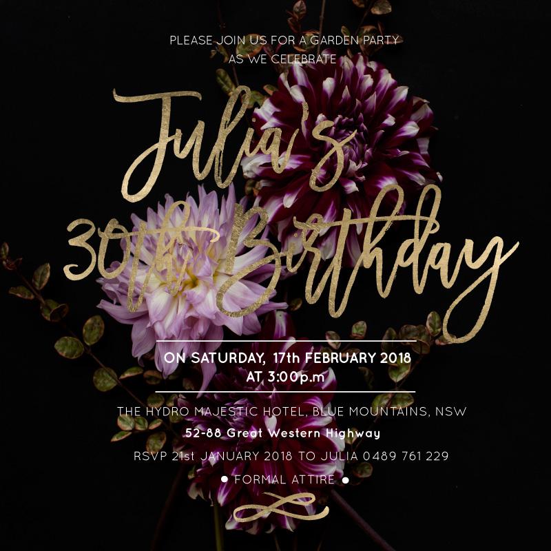 Monet - Birthday Invitations