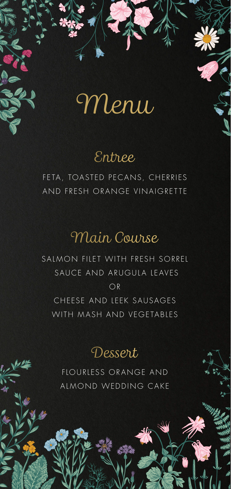 Her Majesty - Menu
