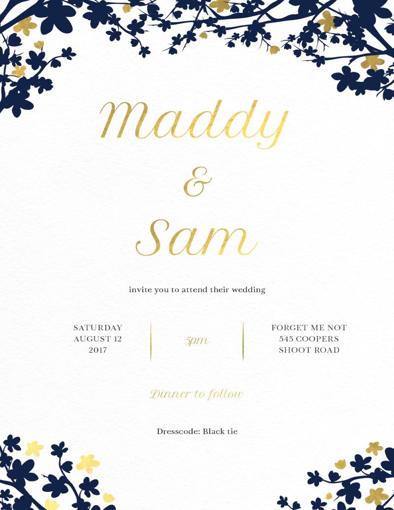 Cherry Blossom - Wedding Invitations