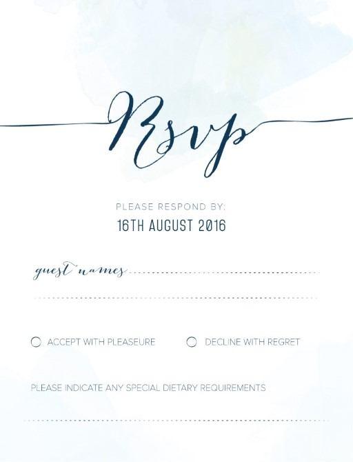 Clouds - RSVP Cards