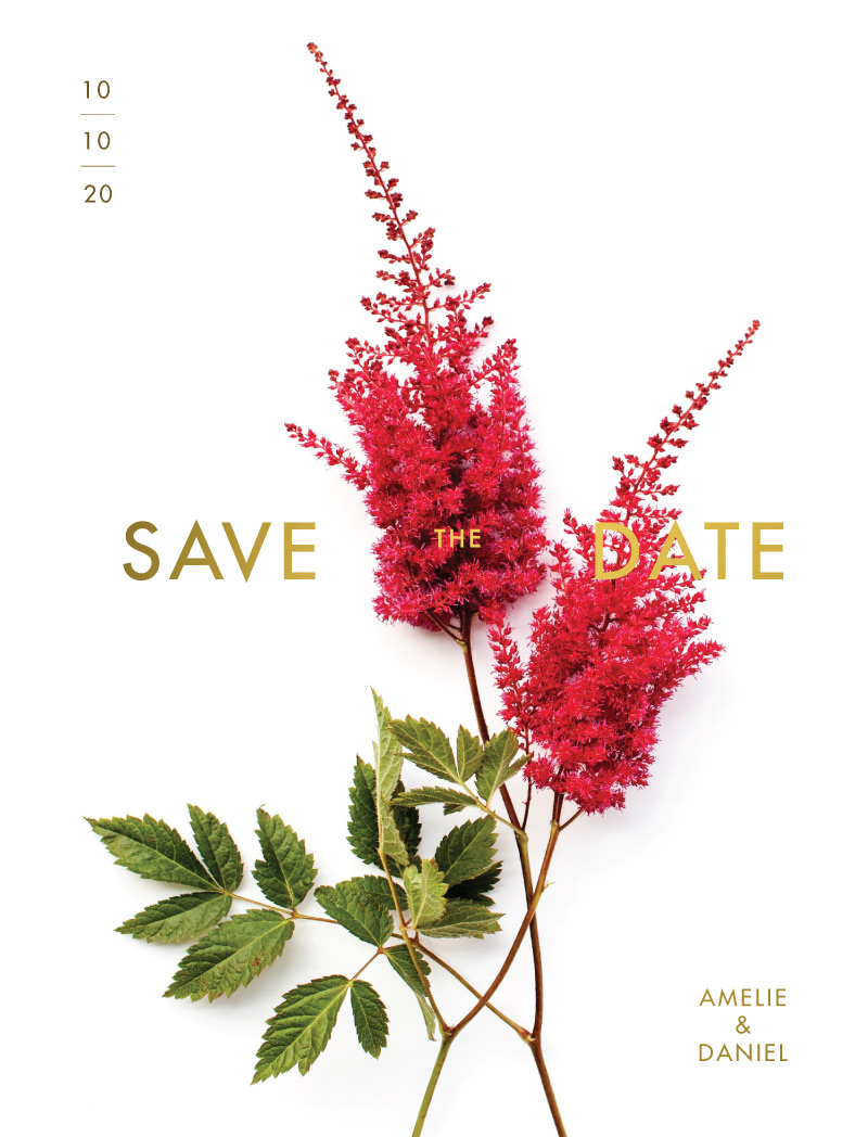 Blooming Red - Save The Date