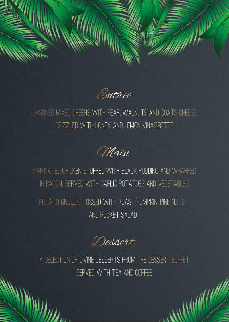 Jungle Fever - Menu