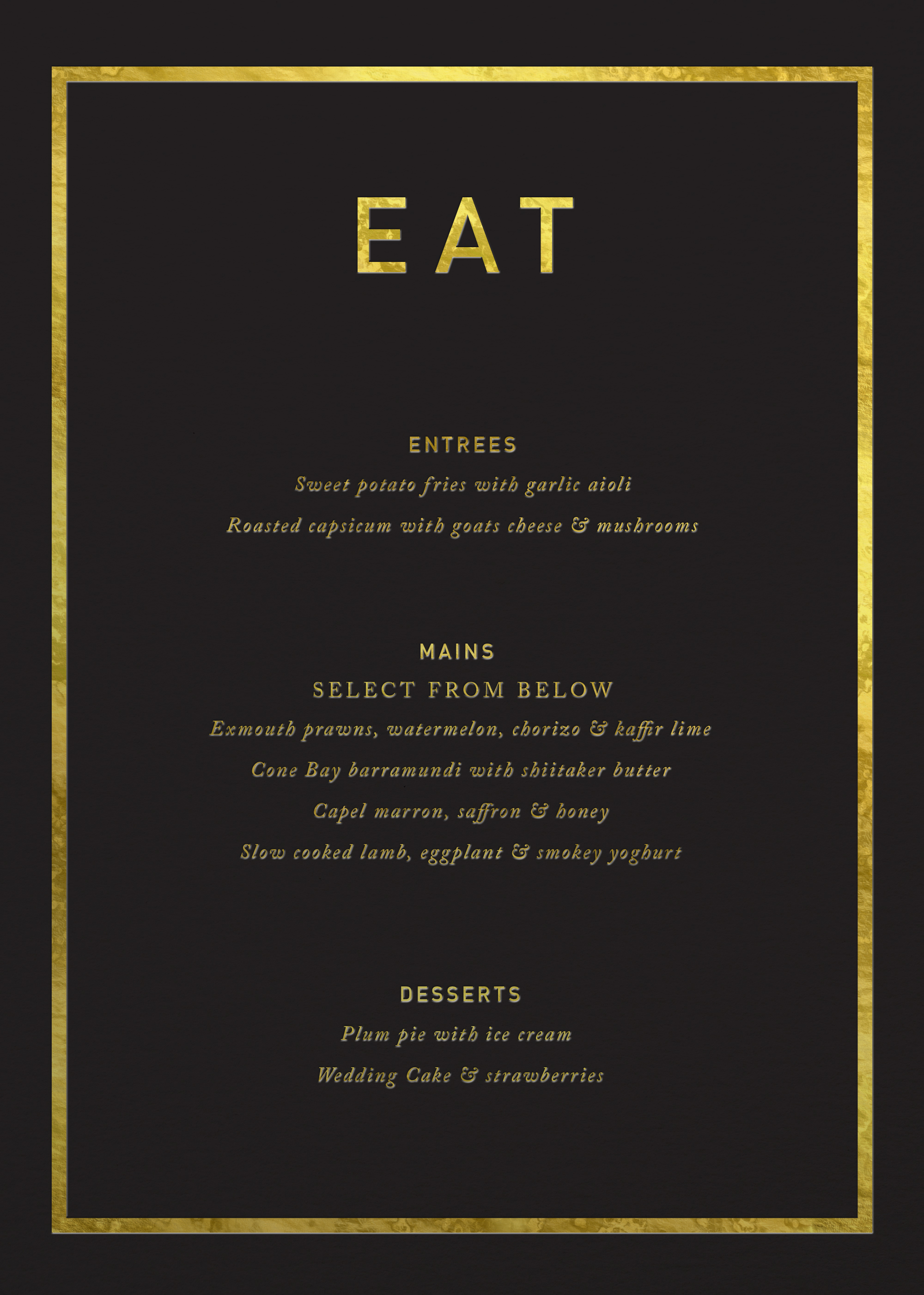 Crown - Menu