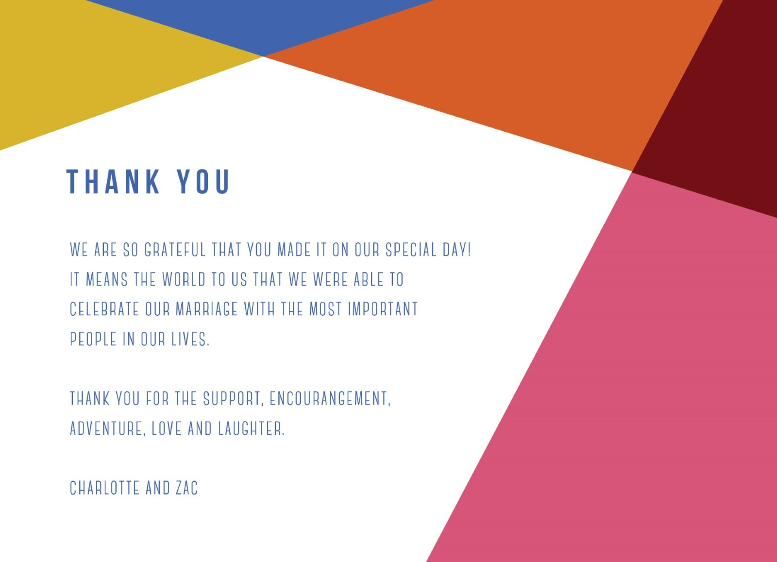 Tesselate - Thank You Card