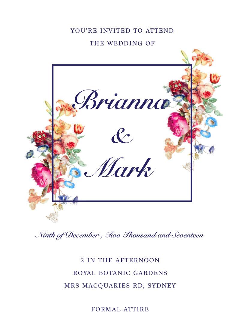 Vintage Floral - Wedding Invitations