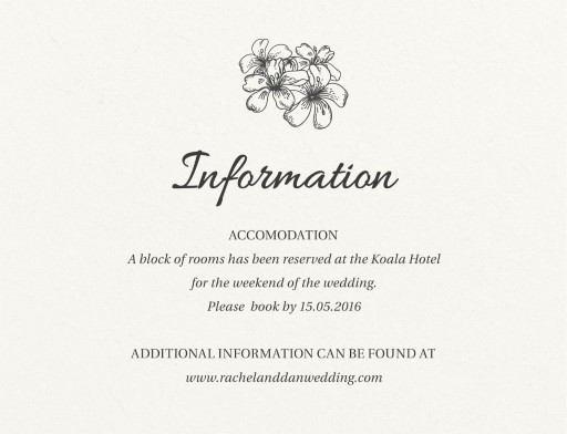 Bluemchen - Information Cards