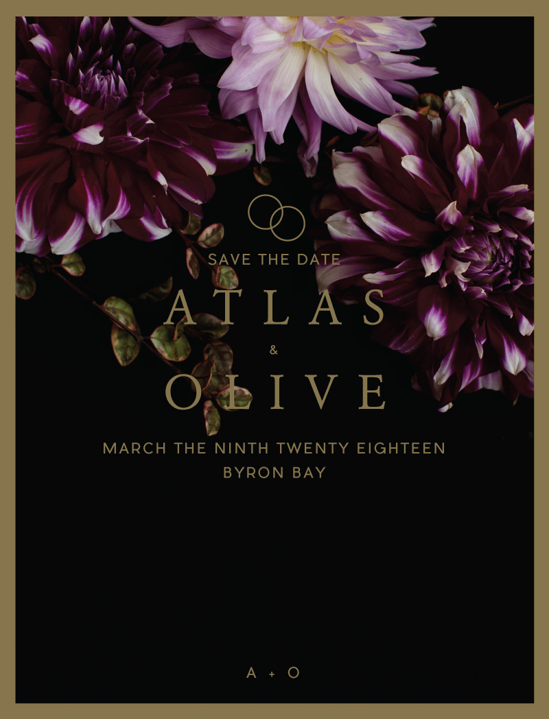 Floral Atlas - Save The Date