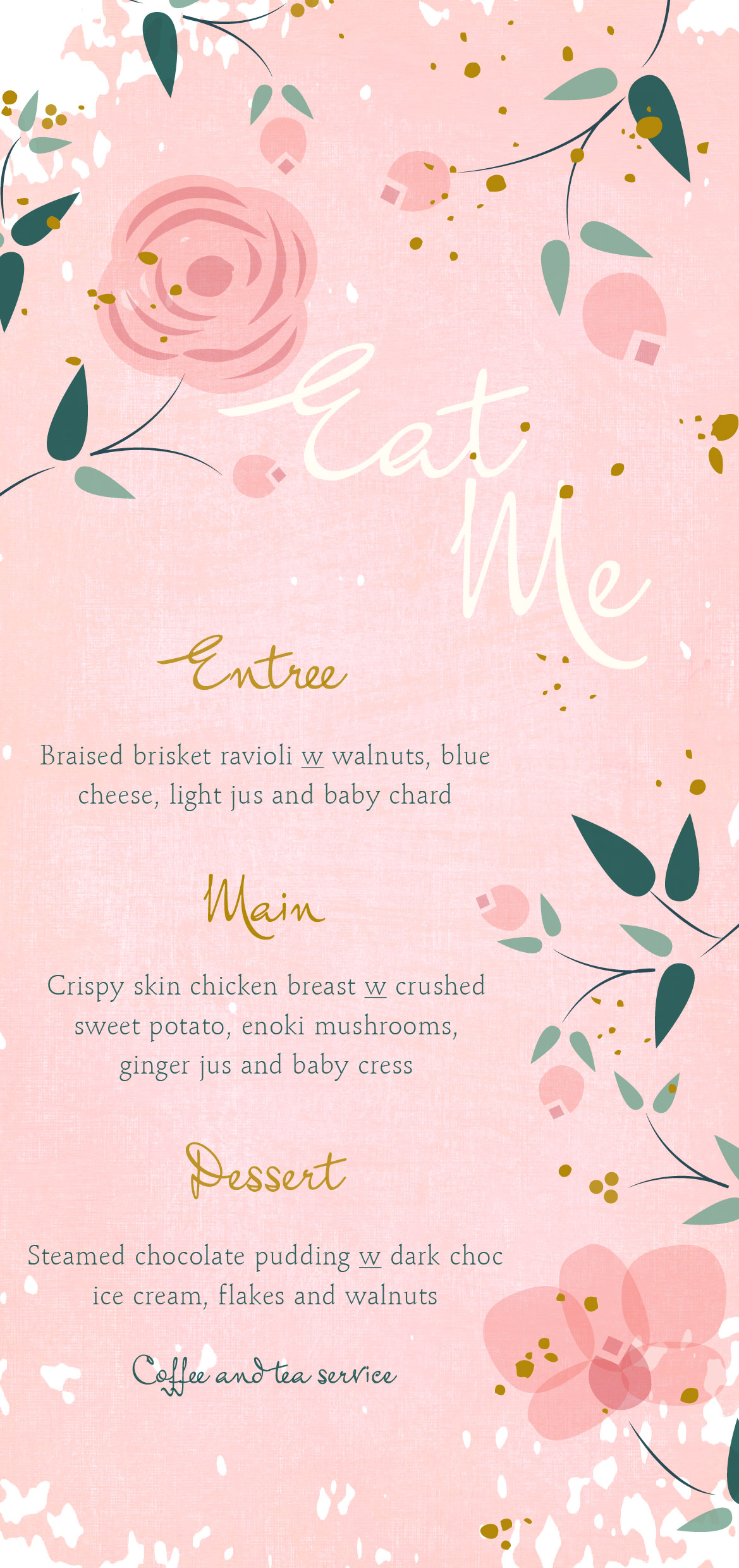 Pretty in Pink - Menu