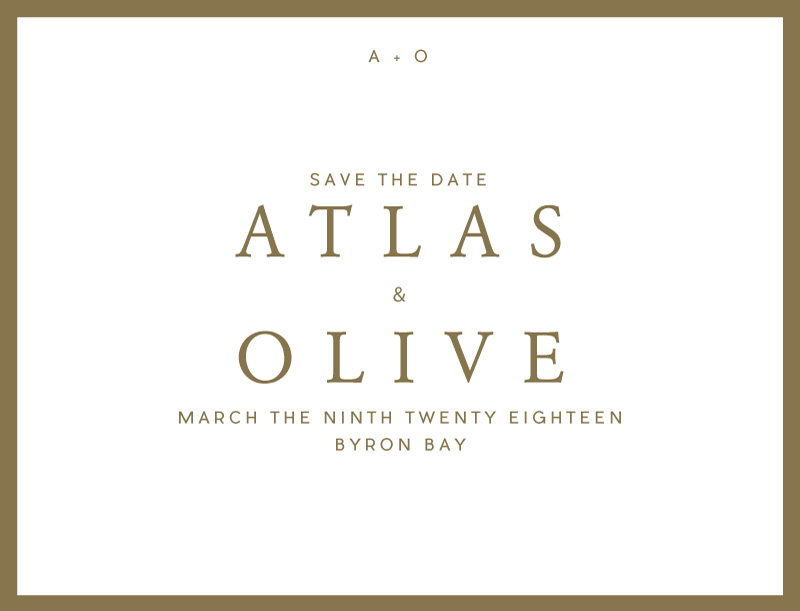 Atlas - Save The Date