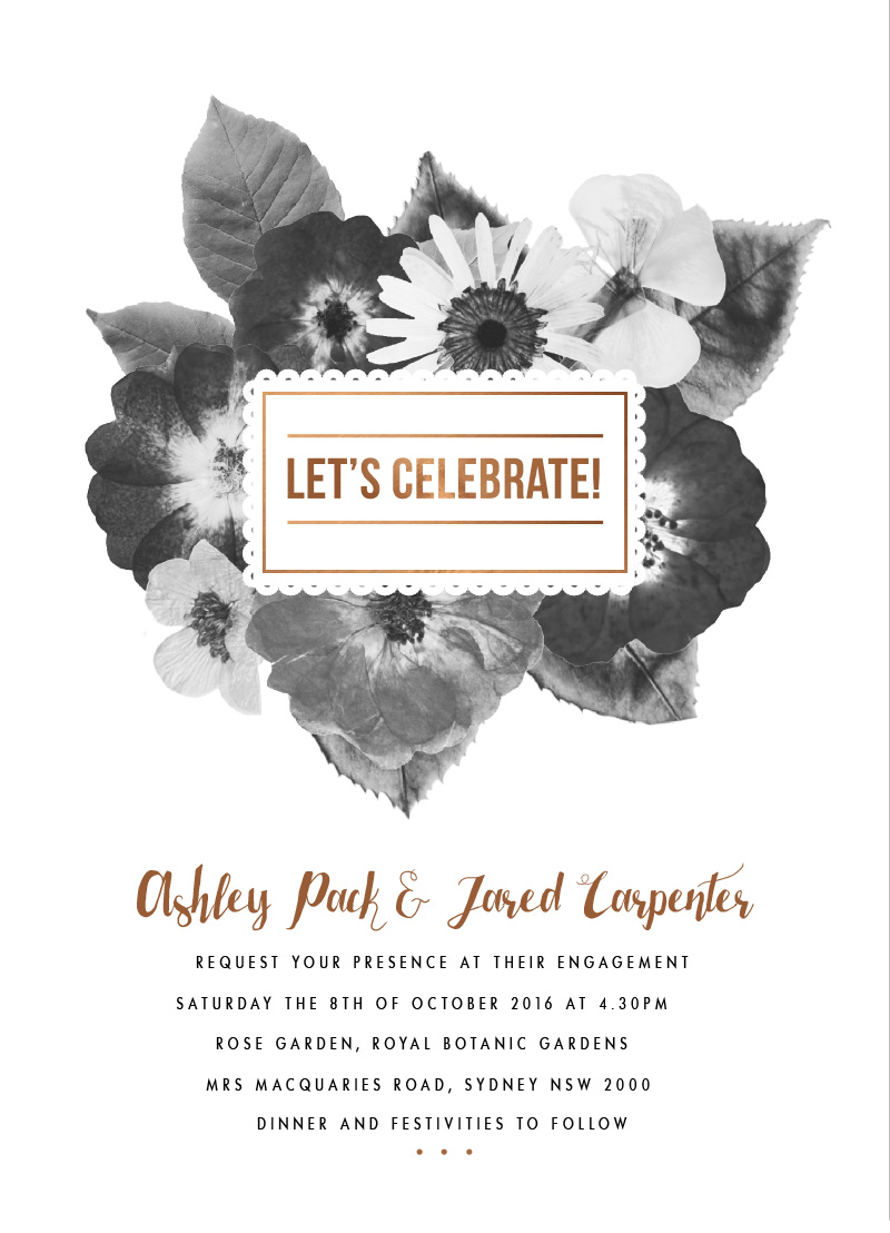 Spring Collection - engagement invitations