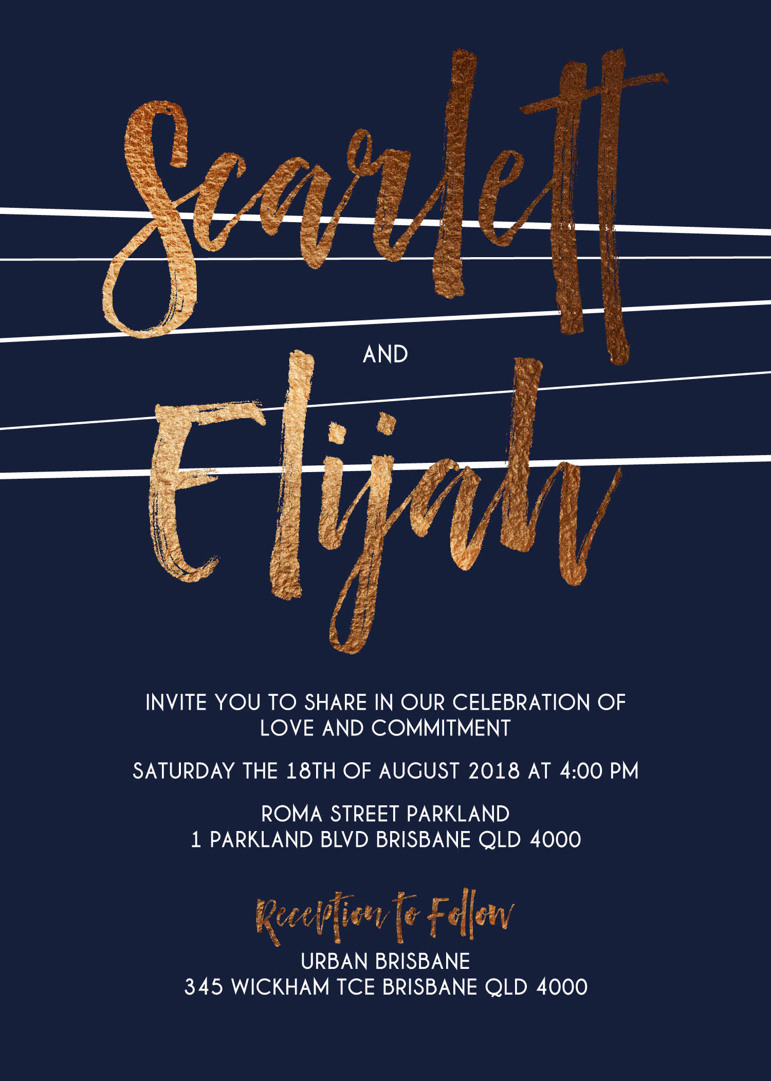 Love Lines - Wedding Invitations