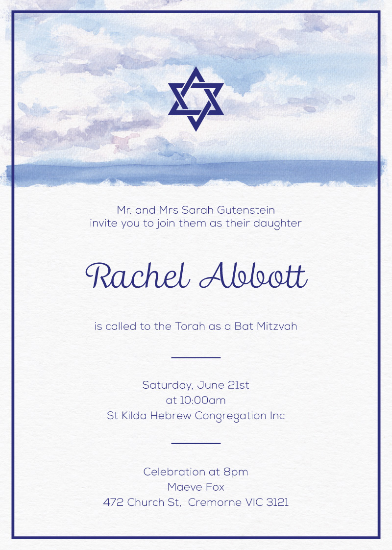 The Day - Bar Bat Mitzvah Invitations
