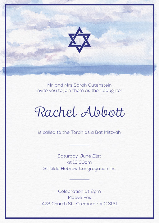 The Day - bar mitzvah invitations