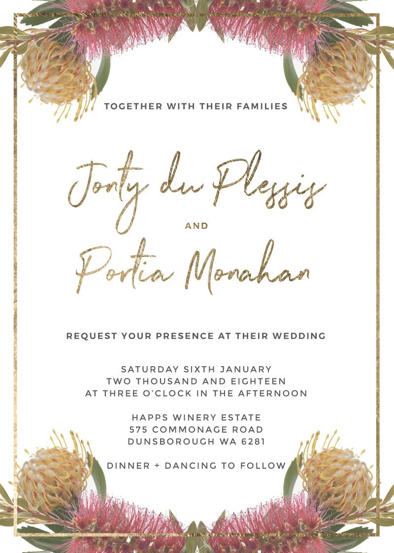 Native Reflection - Wedding Invitations