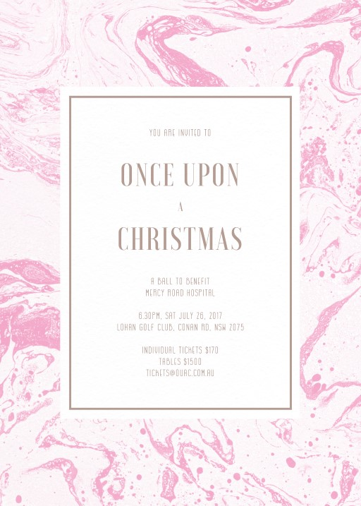 Sweet Marble - corporate event invitations