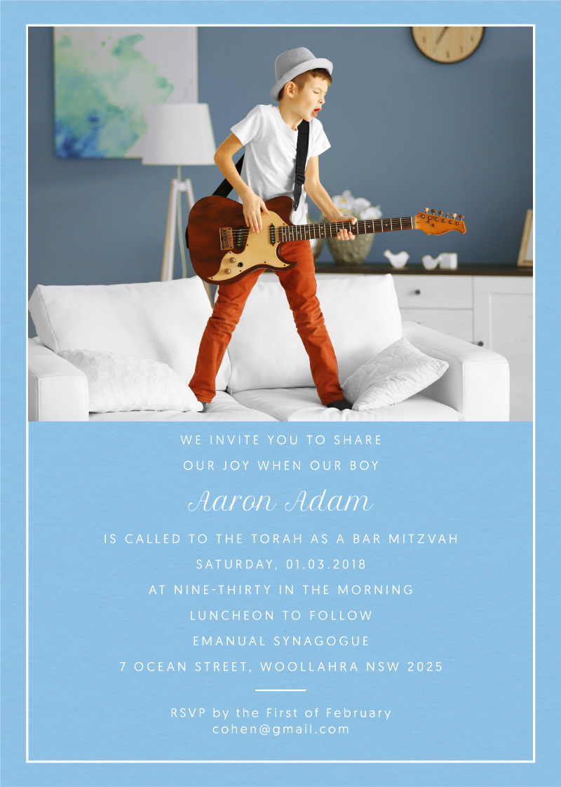 Carrisa & the Groove - Bar & Bat Mitzvah Invitations