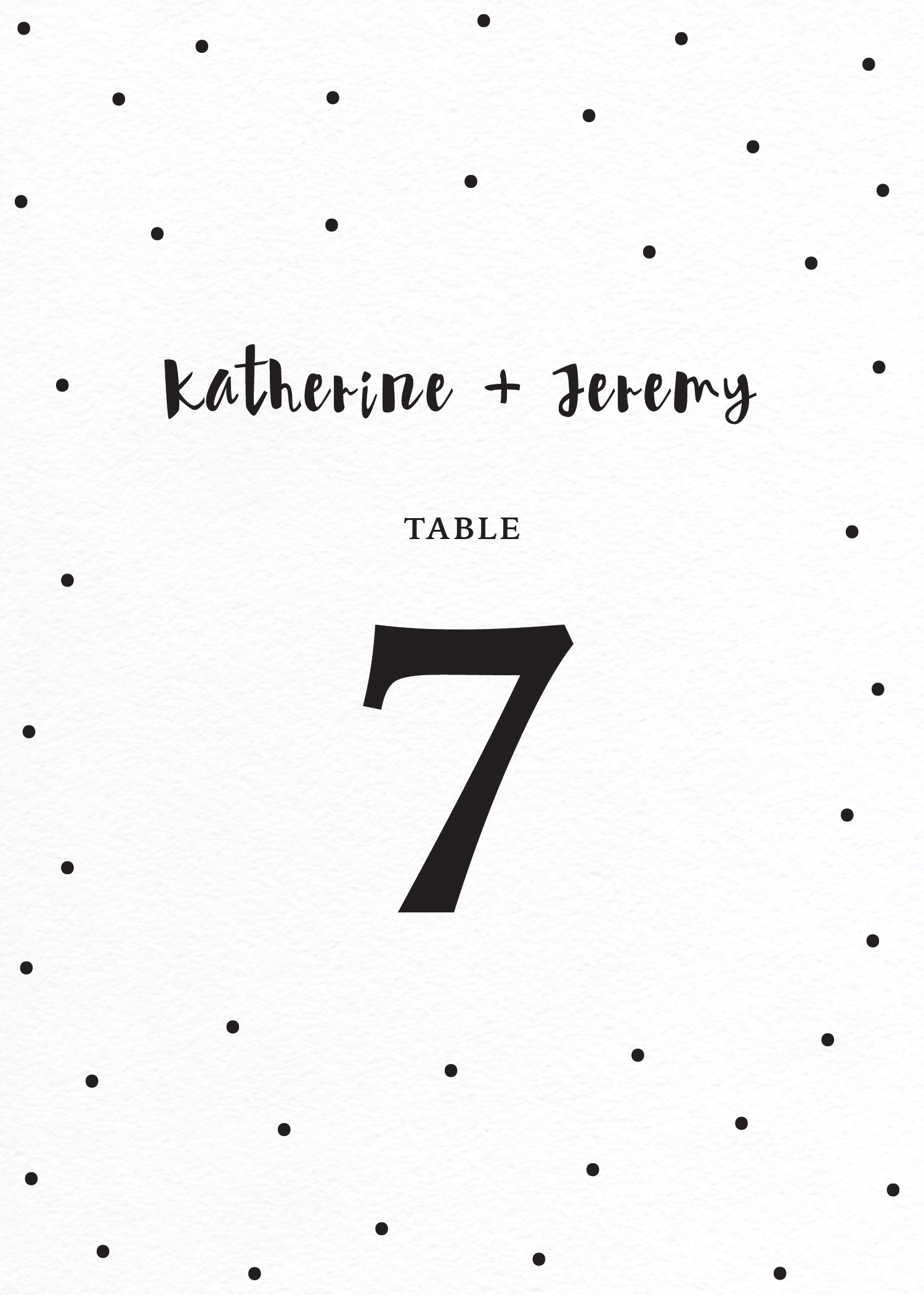Dots - Table Numbers