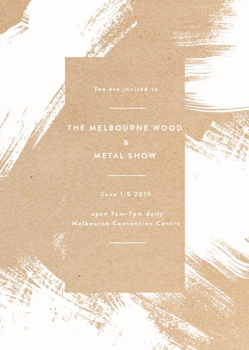 White Paint - corporate event invitations