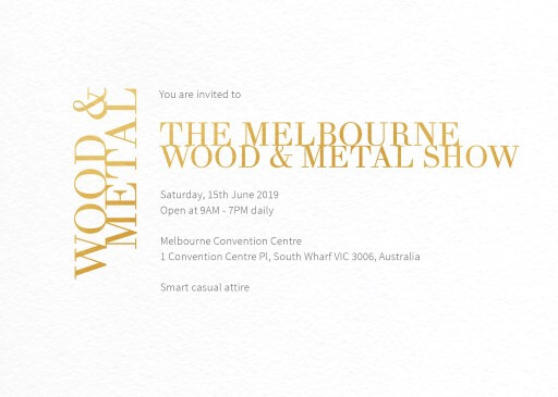 Chic Minimalist - corporate event invitations