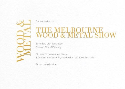 Chic Minimalist - corporate event invitations