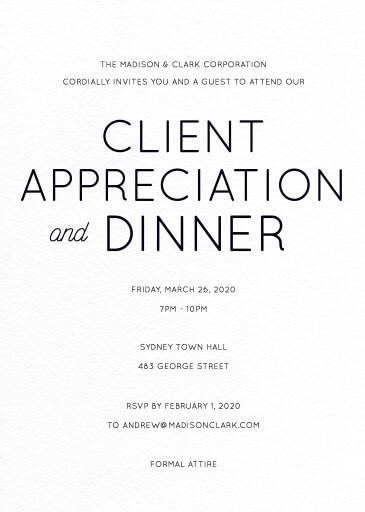 Modern - corporate event invitations