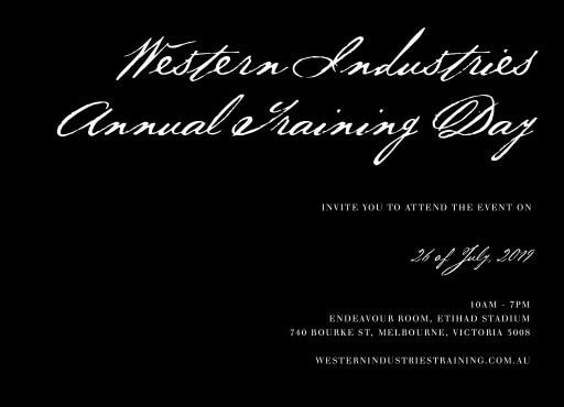 Simple Script - corporate event invitations