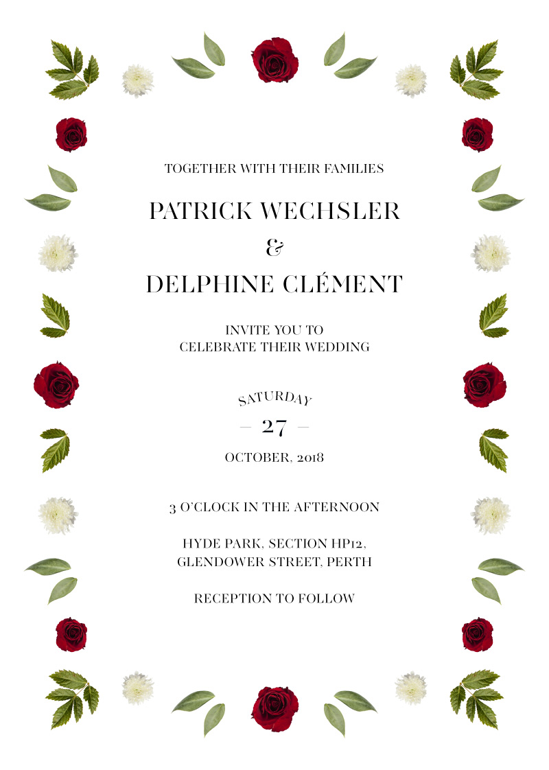 Delphine Rouge - Wedding Invitations