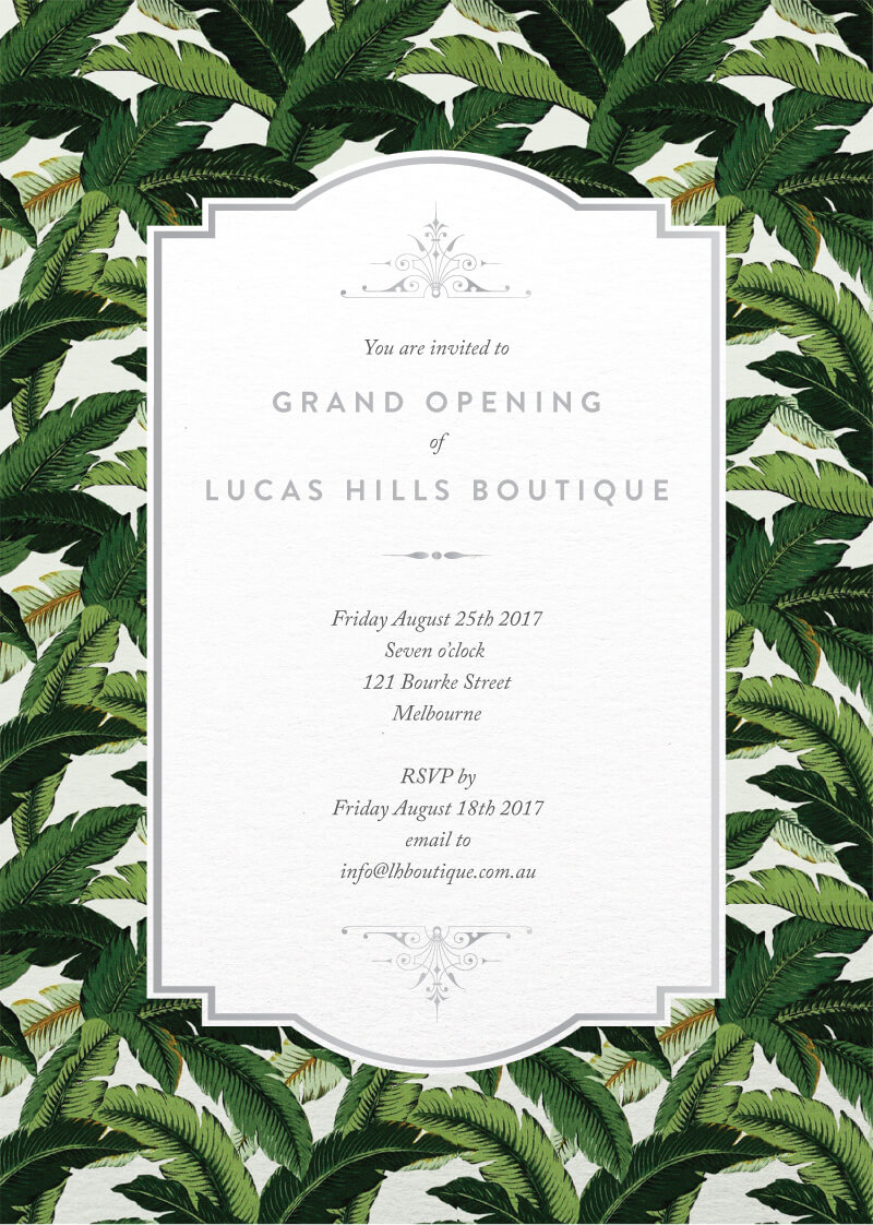 Beverly Hills - Corporate Invitations