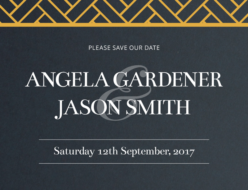 Deco Luxury - Save The Date