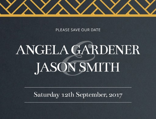Deco Luxury Save The Date - Save The Date