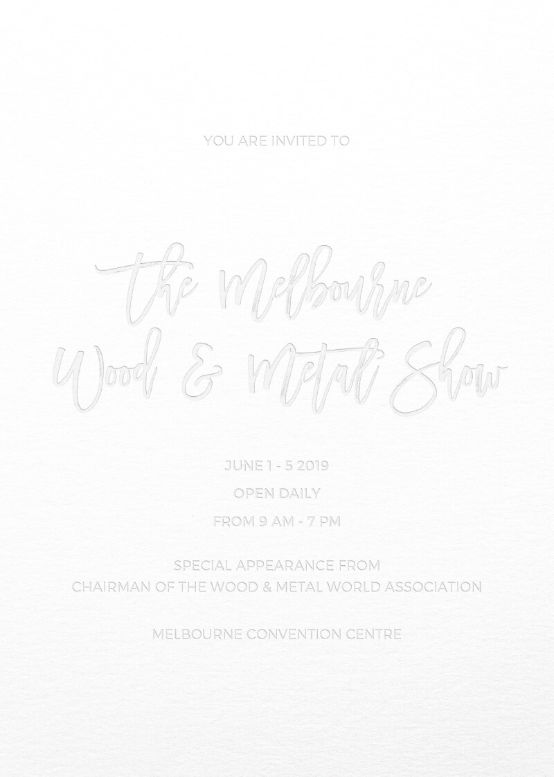 Simply Carefree - Corporate Event Invitations